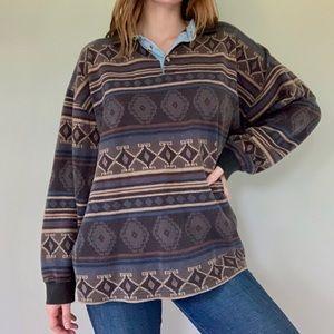 Vintage JJ Oliver Aztec pullover sweater